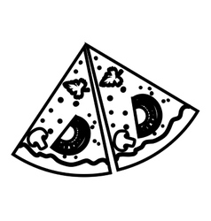 Pizza food fast vector