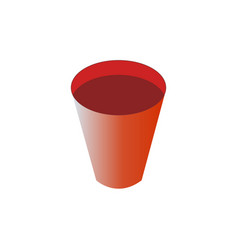 plastic cup icon vector image