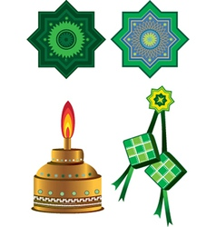 Raya star designs vector