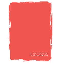Red high-tech background element for a4 formats vector