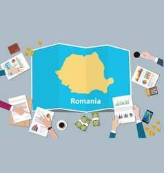 Romania economy country growth nation team vector