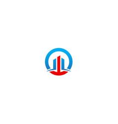 round line building company logo vector image