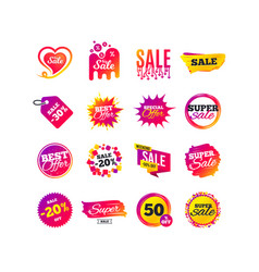 sale banner templates special offer tags vector image