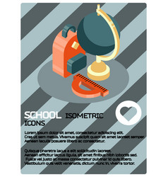 school color isometric poster vector image