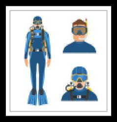 Scuba Diver Man vector