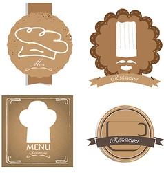 Set of Menu designs vector image