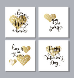 set of valentine cards vector image