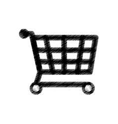 Shopping cart market icon vector