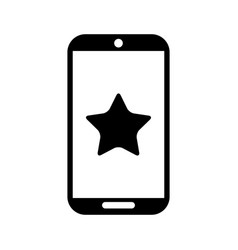 smartphone device with star isolated icon vector image