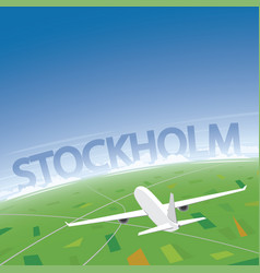 Stockholm flight destination vector