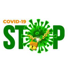 stop coronavirus covid-19 disease outbreak concept vector image