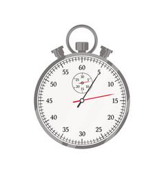 Stopwatch flat timer sport vector