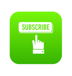 Subscribe icon green vector