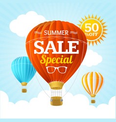 Summer sale concept labels or tags vector