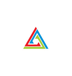 triangle line colorful business logo vector image