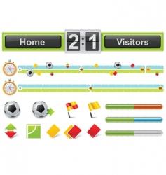 vector soccer match timeline w vector image