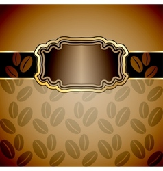 Vintage background with coffee beans vector image