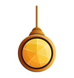 Yellow gemstone pendant icon cartoon style vector