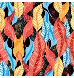 Graphic pattern of autumn leaves vector image
