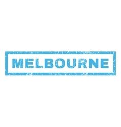 Melbourne Rubber Stamp vector image
