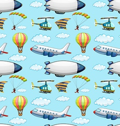 Seamless planes vector image vector image