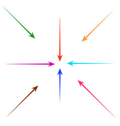 set of straight colorful arrows for design vector image vector image
