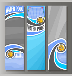 Vertical banners for water polo vector