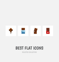 flat icon chocolate set of bitter wrapper vector image