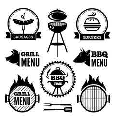 Grill and BBQ1 vector image vector image