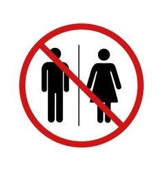 No toilet forbidden sign on white vector image vector image