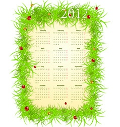 vector illustration of spring 2012 calendar starti vector image