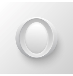 White plastic letter round button vector image vector image