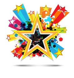 abstract celebration star background design vector image vector image