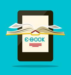 e-book reader book symbol vector image