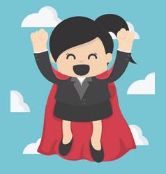 Super business woman vector