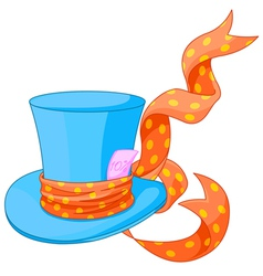 Top hat of Mad Hatter vector image vector image