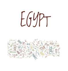 great tour to egypt and its history text vector image