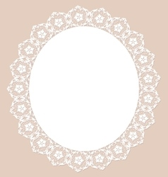 Lace pearl napkin vector image