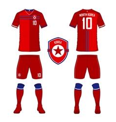 North Korea soccer kit football jersey template vector image