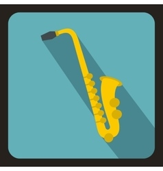 Saxophone icon flat style vector image