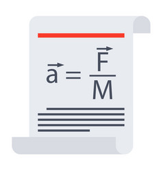 Scientific law icon vector
