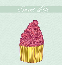 Sweet card vector image