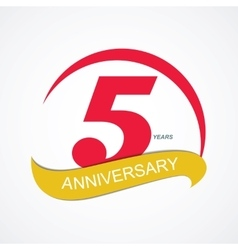 Template Logo 5 Anniversary vector image vector image