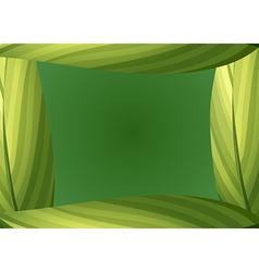 A green leafy border vector image