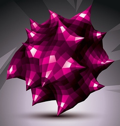Abstract asymmetric purple object constructed from vector
