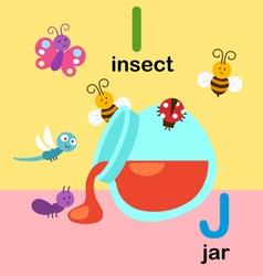 alphabet i j vector image
