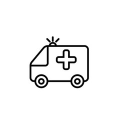 ambulance icon black on white vector image