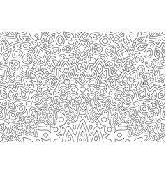 Art for adult coloring book with eastern pattern vector
