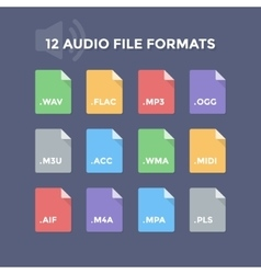 Audio File Formats vector image