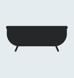 bathtub icon vector image